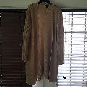 Forever 21 plus size tan long cardigan